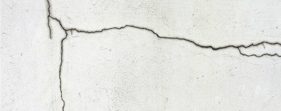 crack in a foundation wall