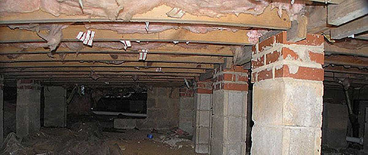 unfinished crawlspace