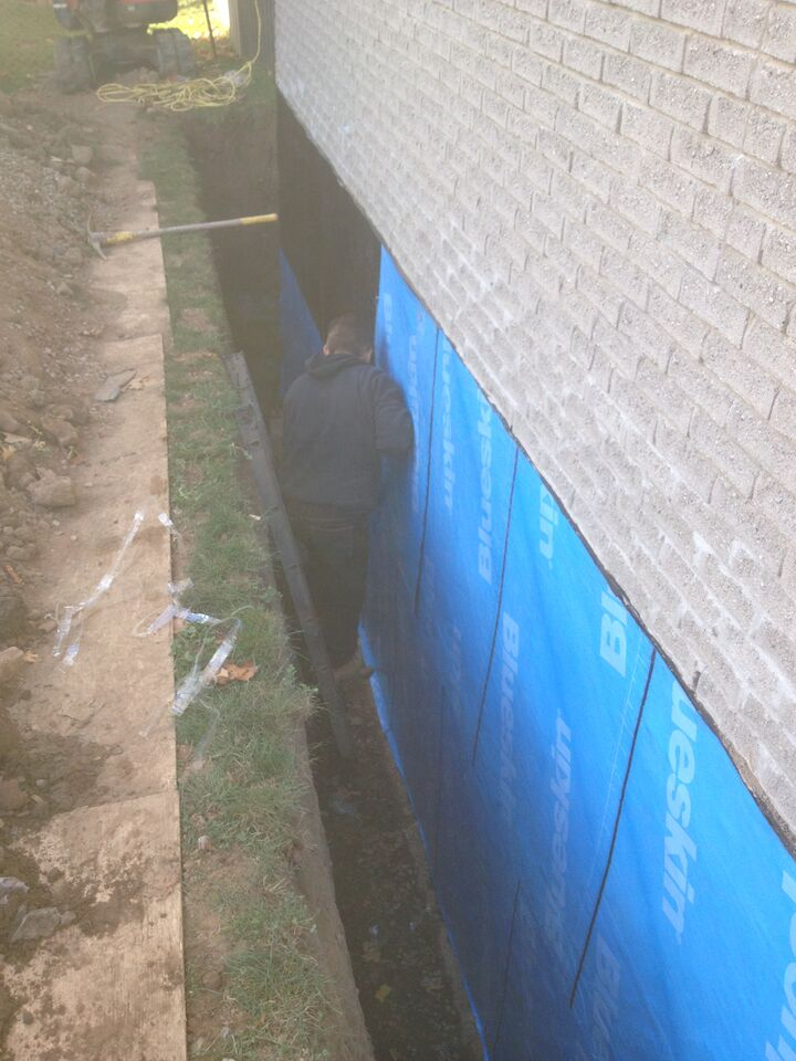 Exterior Foundation Waterproofing In Burlington Amp Hamilton
