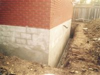 Home Foundation Parging Above